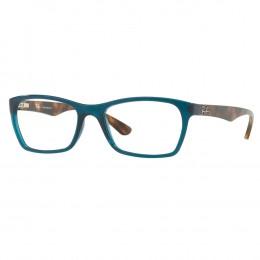 5f26030540156 Óculos de Grau Ray-Ban Retangular Acetato Verde Aro Fechado Sem Plaquetas  0rx7033l 5704 52