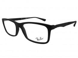 Óculos de Grau Ray-Ban Quadrado Acetato Preta Aro Fechado Sem Plaquetas  0rx7040l 519653 16ff15cfa8