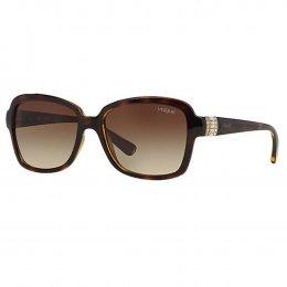 Óculos de Sol Vogue Quadrado Armação Acetato Tartaruga Lente Marrom Comum  Sem Plaquetas vo2942sb w6561355 2a5669cb89