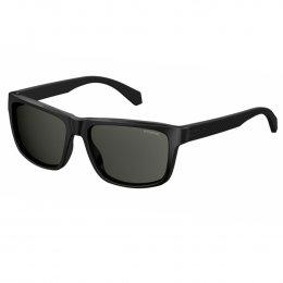 396899bebb82f Óculos de Sol Polaroid Quadrado Armação Acetato Preto Lente Preta Comum Sem Plaquetas  pld 2058