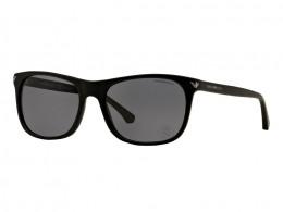 4ddb1da4587bf Óculos de Sol Emporio Armani Quadrado Armação Acetato Preta Lente Preta  Comum Sem Plaquetas 0ea405650428157