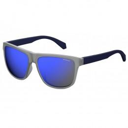 b321eaf3085bb Óculos de Sol Polaroid Wayfarer Armação Acetato Preto Lente Azul Espelhada  Sem Plaquetas pld 2057