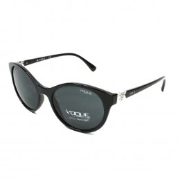 64b50e7c5c164 Óculos de Sol Vogue Redondo Armação Acetato Preta Lente Preta Comum Sem  Plaquetas 0vo5135sb w44