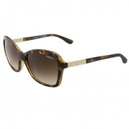 Óculos de Sol Vogue Quadrado Armação Acetato Tartaruga Lente Marrom Comum  Sem Plaquetas 0vo5021bl w6561357 941d2f40aa