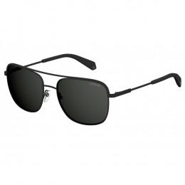 Óculos de Sol Polaroid Caçador Armação Metal Preto Lente Preta Comum Com  Plaquetas pld 2056  4cc7200460