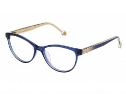44f414299611e Óculos de Grau Carolina Herrera Gatinho Acetato Azul Aro Fechado Sem  Plaquetas vhe677530d99