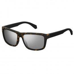 b417063f197c4 Óculos de Sol Polaroid Quadrado Armação Acetato Tartaruga Lente Cinza  Espelhada Sem Plaquetas pld 2058