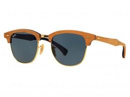 Óculos de Sol Ray-Ban Clubmaster Armação Acetato Marrom Lente Azul Comum  Com Plaquetas 0rb3016m1180r551 a44d6fbbb2