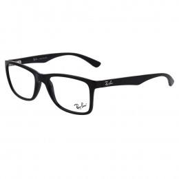 a21d04ea067c3 Óculos de Grau Ray-Ban Retangular Acetato Preta Aro Fechado Sem Plaquetas  0rx7108l 2000 53