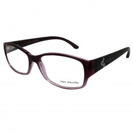 Óculos de Grau Jean Monnier Retangular Acetato Roxa Aro Fechado Sem  Plaquetas 0j83133c55553 dcde375166
