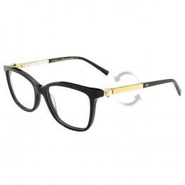 Óculos de Grau Ana Hickmann Wayfarer Acetato Preta Aro Fechado Sem Plaquetas  PARIS I NIGHT 87bc70e8c5