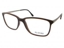 b6d3247c2b190 Óculos de Grau Platini Retangular Acetato Marrom Aro Fechado Sem Plaquetas  0p93125 e687 54