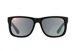 Óculos de Sol Ray-Ban Quadrado Armação Acetato Preta Lente Preta Espelhada  Sem Plaquetas 0rb4165l622 fd3e539dbf