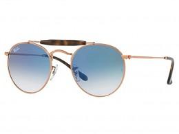 1aeaf62f7086d Óculos de Sol Ray-Ban Caçador Armação Metal Vermelho Lente Azul Degradê Com  Plaquetas 0rb3747