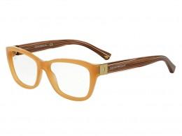 15b7c6d041562 Óculos de Grau Emporio Armani Quadrado Acetato Marrom Aro Fechado Sem  Plaquetas ea3084550654