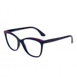 bcc53456f53ec Óculos de Grau Vogue Gatinho Acetato Azul Aro Fechado Sem Plaquetas  0vo5188l 2288 53