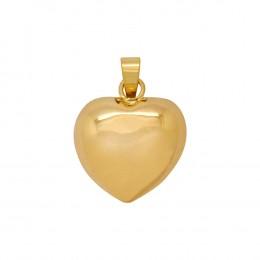 3231c63a23d6 Pingente Ouro 18k Amarelo Coração Medio Oco Liso