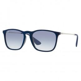 2e961b24f60bf Óculos de Sol Ray-Ban Quadrado Armação Acetato Azul Lente Azul Degradê Sem  Plaquetas 0rb4187
