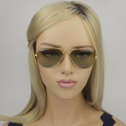 b06071b726593 Óculos de Sol Ray-Ban Aviador Armação Metal Dourada Lente Verde Comum Com  Plaquetas 0rb3025