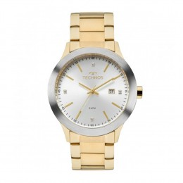e3207615384 Relógio Technos Fashion Caixa Redonda Analógico Metal Dourada Pulseira  Metal Dourada 2115mko 4c