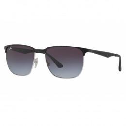 82e49378e9e24 Óculos de Sol Ray-Ban Quadrado Armação Metal Preto Lente Azul Degradê Com  Plaquetas 0rb3569