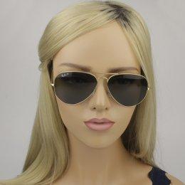 531ffcfa4570f Óculos de Sol Ray-Ban Aviador Armação Metal Dourada Lente Verde Polarizada  Com Plaquetas 0rb3025l