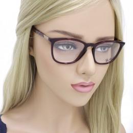 Óculos de Grau Ray-Ban Redondo Acetato Vermelha Aro Fechado Sem Plaquetas  0rx7136l 574252 2d8bace349