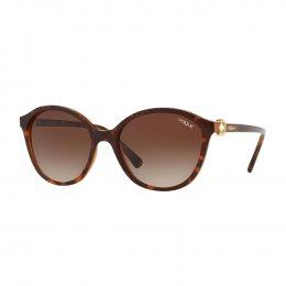 4a33c7c43b3be Óculos de Sol Vogue Redondo Armação Acetato Tartaruga Lente Marrom Degradê Sem  Plaquetas 0vo5229sb 23861357