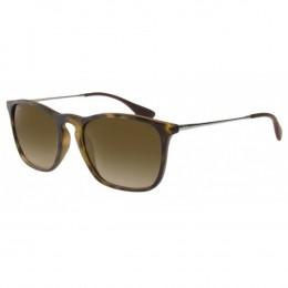 Óculos de Sol Ray-Ban Quadrado Armação Acetato Tartaruga Lente Marrom  Degradê Sem Plaquetas 0rb4187l 23f2bb802e