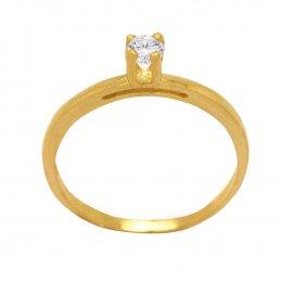 Anel Ouro 18k Amarelo Aro Simples Solitário Zircônia 3mm Caixa 4 Garras Alta 64b37f7bd0