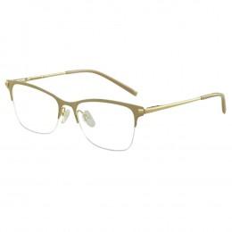 b7158f23eefb7 Óculos de Grau Ana Hickmann Quadrado Acetato Bege Aro Aberto Com Plaquetas  AH1305 04A