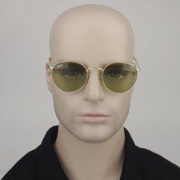 Óculos de Sol Ray-Ban Retrô Armação Metal Dourada Lente Verde Comum Com  Plaquetas 0rb3447 a336a14385