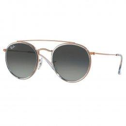 f1c4e52ffd274 Óculos de Sol Ray-Ban Redondo Armação Metal Rosê Lente Azul Comum Com  Plaquetas 0rb3647n
