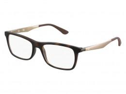 ac23e518765f5 Óculos de Grau Ray-Ban Quadrado Acetato Tartaruga Aro Fechado Sem Plaquetas  0rx7062520055