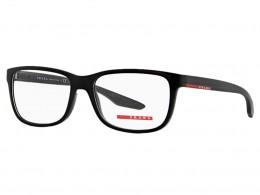 Óculos de Grau Prada Quadrado Acetato Preta Aro Fechado Sem Plaquetas  0ps02gvub71o156 bd4484dacb