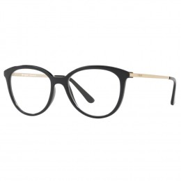 8b625f577b890 Óculos de Grau Vogue Redondo Acetato Preta Aro Fechado Sem Plaquetas  0vo5151l w44 53