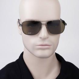 95f5403d38eb3 Óculos de Sol Polaroid Quadrado Armação Metal Marrom Lente Marrom Comum Com  Plaquetas pld 2042