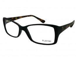 c339661ddeee4 Óculos de Grau Platini Retangular Acetato Preta Aro Fechado Sem Plaquetas  0p93118e49753