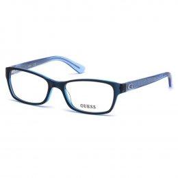 Óculos de Grau Guess Retangular Acetato Azul Aro Fechado Sem Plaquetas  gu2591 53090 898afaca77