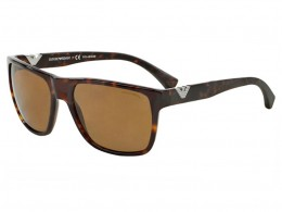 Óculos de Sol Emporio Armani Quadrado Armação Acetato Tartaruga Lente  Marrom Comum Sem Plaquetas 0ea403550268358 84b1655287