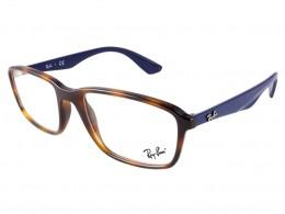 Óculos de Grau Ray-Ban Retangular Acetato Tartaruga Aro Fechado Sem  Plaquetas 0rx7084 5585 56 1917a7ced4