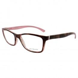 93ff0c99614ce Óculos de Grau Jean Monnier Retangular Acetato Tartaruga Aro Fechado Sem  Plaquetas