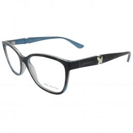 13191ddb01c05 Óculos de Grau Jean Monnier Quadrado Acetato Azul Aro Fechado Sem Plaquetas  0j83169b f560 52