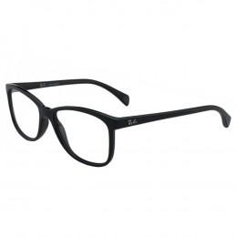7f77cd8ec8d7a Óculos de Grau Ray-Ban Quadrado Acetato Preta Aro Fechado Sem Plaquetas  0rx7121l 2000 53