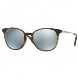 Óculos de Sol Ray-Ban Redondo Armação Acetato Tartaruga Lente Cinza  Espelhada Sem Plaquetas 0rb4270l 7ed296552d