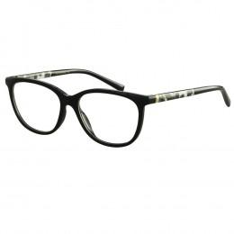48a305b3d3cc6 Óculos de Grau Ana Hickmann Gatinho Acetato Preta Aro Fechado Sem Plaquetas  ah6267 a01