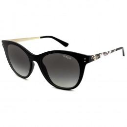 Óculos de Sol Vogue Gatinho Armação Acetato Preto Lente Preta Comum Sem  Plaquetas vo5205s w44  092195e69f