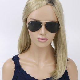 Óculos de Sol Ray-Ban Aviador Armação Metal Dourado Lente Preta Comum Com  Plaquetas 0rb3584n 9cb47de3bb