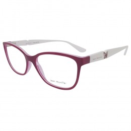 edba29ece11ba Óculos de Grau Jean Monnier Quadrado Acetato Rosa Aro Fechado Sem Plaquetas  0j83169b f562 52