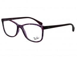 969356c239ce8 Óculos de Grau Ray-Ban Quadrado Acetato Roxa Aro Fechado Sem Plaquetas  0rx7121l 8005 53